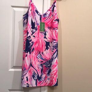 ba508a7c1eeff ... Lilly Pulitzer Lela Silk Dress in Paradise Pt. SzL Dooney and Bourke  wristlet NWT!